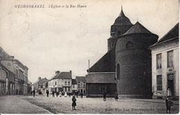 Nederbrakel - L'Eglise  Et La Rue Haute - Brakel