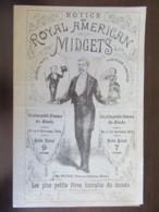 Notice Sur Royal American Midgets - Plus Petit Homme (Général MITE) Et Plus Petite Femme Du Monde - Vers 1881 - Historical Documents