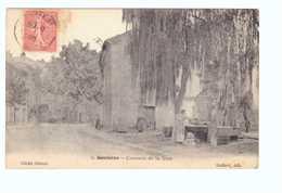83 Gonfaron Avenue De La Gare Cpa Carte Animée Cachet 1906 Edit Galfard - France