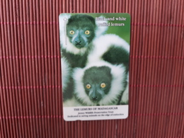 Phonecard Black And White Ruffed Lemurs -Number 22JERC (Mint,Neuve) Rare - United Kingdom