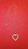 """Chaine + Pendentif """"Coeur Avec Brillants"""" Dorée - Necklaces/Chains"""