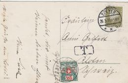 Allemagne Carte Speyer Taxée En Suisse 1932 - Germany