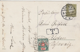 Allemagne Carte Speyer Taxée En Suisse 1932 - Germania