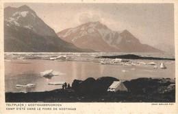 CPA Europe GROENLAND / Camp D'été Dans Le Fjord De Godthaab Cachet Pavillon Danemark Exposition Coloniale Paris 1931 - Groenland
