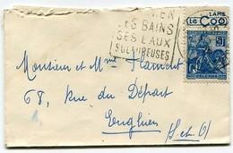 !!! 50C JEANNE D'ARC AVEC PUB LAME LE COQ SUR LETTRE - Advertising