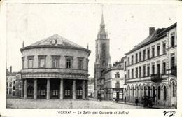 TOURNAI - La Salle Des Concerts Et Beffroi - Oblitération De 1907 - Doornik
