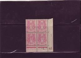 N° 672- 40c CHAINES BRISEES - Planche A+A -  Tirage Du 28.12.1944 Au Au 16.1.45 - 04.01.1945 - - 1940-1949