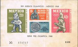 Mexico 1964 Postal Special Sheet - XIX Olympic Games 1968 - Mexique