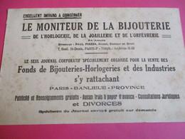 Buvard/ Bijouterie /Presse/Le Moniteur De La Bijouterie /Horlogerie, Joaillerie, Orfèvrerie//Vers 1930-1940      BUV371 - B