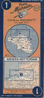 Anvers-Rotterdam. Cartes Michelin. 1950 - Wegenkaarten