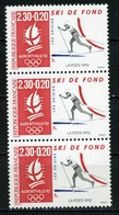 FRANCE     Jeux Olympiques D'hiver  Albertville     Bande De 3   N° Y&T  2678  ** - France