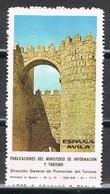 Sello Viñeta Ministerio Informacion Y Turismo España, Poster Label Murallas De AVILA ** - Variedades & Curiosidades