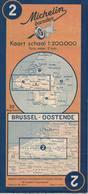 Bruxelles-Ostende. Cartes Michelin. 1949 - Cartes Routières