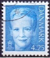 DENEMARKEN 2000 4.25kr Margrethe II Blauw GB-USED - Gebraucht