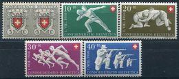 SUISSE - Y&T  N° 497-501 ** - Suisse