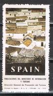 Sello Viñeta Ministerio Informacion Y Turismo España, Poster Label Pueblo Blanco ** - Variedades & Curiosidades
