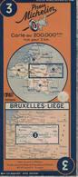 Bruxelles-Liège. Cartes Michelin. +- 1940 - Cartes Routières