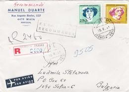 Portugal 1991 - 60+250 E. - Navigateurs Portugais - Nuno Tristao Et Diogo Cao, R-lettre Portugal/Bulgarie - Cartas