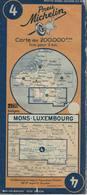 Mons-Luxembourg. Cartes Michelin. 1940 - Cartes Routières