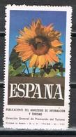 Sello Viñeta Ministerio Informacion Y Turismo España, Poster Label Girasol, Pipas ** - Variedades & Curiosidades