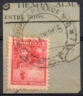 ARGENTINA, 1899 / 1908 Issue, URUGUAY A PARANA; ESTAFETA AMBULANTE # 5 , Entre Rios, Cancel On Piece - Oblitérés