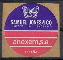 Sello Viñeta MADRID, Comercial ANEXEM S.A. Samuel Jones And Co, Mariposa, Papillon ** - Variedades & Curiosidades