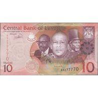 TWN - LESOTHO 21b - 10 Maloti 2013 Prefix AS UNC - Lesotho