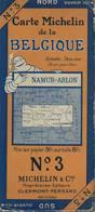 Namur-Arlon. Cartes Michelin. +- 1940. Sur Toile - Cartes Routières