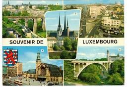 PIU' FOTOGRAMMI - CATTEDRALE - VIA GENERALE - VIA DELLA LIBERTA'  (LUXEMBOURG) - Lussemburgo - Città