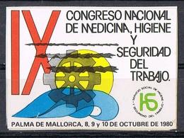 Sello Viñeta PALMA De MALLORCA (Baleares) 1980. Medicina E Higiene Trabajo * - Variedades & Curiosidades