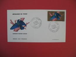 FDC 1967 République Du Tchad - Lamprocolius Oiseaux Du Tchad Poste Aérienne  - Fort-Lamy - Tchad (1960-...)
