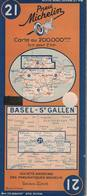 Basel-St Gallen. Cartes Michelin. 1948. - Cartes Routières