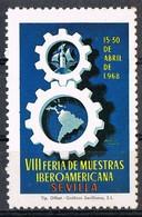 Sello Viñeta SEVILLA 1968. Feria Muestras Iberoamericana. Label, Cinderella ** - Variedades & Curiosidades