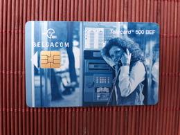 Phonecard Femme Cabine 500 BEF SO 6 Nummero FH 31.05.2000 Tirage 15.000EX Made Used  Rare - Belgium