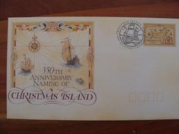 CHRISTMAS  FDC  Carte Ancienne De L'ile - Christmas Island