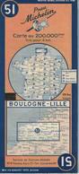 Boulogne-Lille. Cartes Michelin. 1950. - Cartes Routières