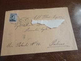 LETTERA CON 15 CENTESIMI  CON ANNULLO MEZZOIUSO PALERMO-1914 - 1900-44 Vittorio Emanuele III