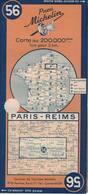 Paris-Reins. Cartes Michelin. 1948. - Cartes Routières