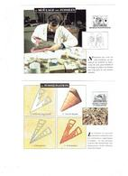 Lot 12 - Fiche Illustree Fossile Escargot Ambre Jaune Corne D'ammon Métier Paléontologue Microscope Craie ARISTOTE - Animaux