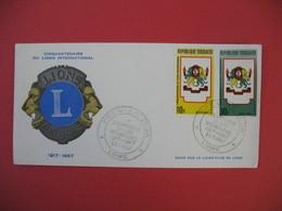 FDC 1967 République Togolaise - Cinquantenaire Du Lions International  - Lomé - Togo (1960-...)