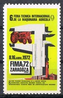 Sello Viñeta ZARAGOZA 1972. 6ª Feria Maquinaria Agricola. Label, Cinderella ** - Variedades & Curiosidades