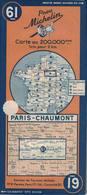 Paris-Chaumont. Cartes Michelin. 1947. - Cartes Routières