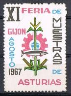 Sello Viñeta GIJON (Asturias) 1967. XI Feria Muestras Asturias. Label, Cinderella ** - Variedades & Curiosidades