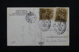 HONGRIE - Affranchissement De Komárom Sur Carte Postale (Entrée Des Troupes Allemandes) En 1938 Pour La France - L 23370 - Hongrie