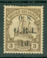 New Guinea: 1915   Official - German New Guinea Stamp 'O.S. G.R.I.' OVPT   SG O1    1d On 3pf   MH - Papua New Guinea