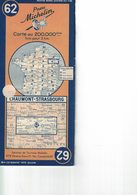 Chaumont-Strasbourg. Cartes Michelin. 1947. - Roadmaps