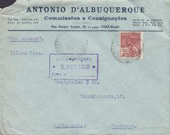Brazil ANTONIO D'ALBUQUERQUE Commissões E Consignacoes PARÁ 1928 Cover Letra Germany 'Por Arucas' (Gran Canaria) Spain - Brasil