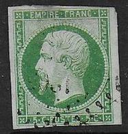 Napoléon N° 12 Oblitéré - Cote : 95 € - 1853-1860 Napoléon III