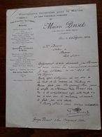 Lettre Ancienne. Algérie . Bone. Fournitures Générales Pour La Marine Et Les Travaux Publics. Maison Ponsot. 1924 - Factures & Documents Commerciaux