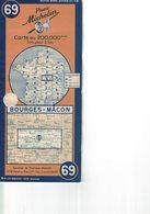 Bourges-Mâcon. Cartes Michelin. 1948. - Cartes Routières